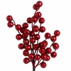 RAZ  Red Glittered Ball Spray 14 inches