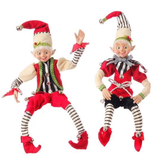 posable Christmas elf by RAZ imports