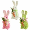 RAZ Hydrangea Bunny with Carrot 9 inches