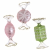 RAZ Imports 3.5 Inch Wrapped Candy Glass Ornaments