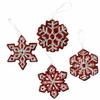 Raz Kitchen Candy Snowflake Ornaments