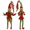 RAZ  20 inch Christmas Elves in Red and Green