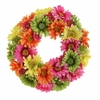 RAZ Mixed Gerbera Wreath 14 inches