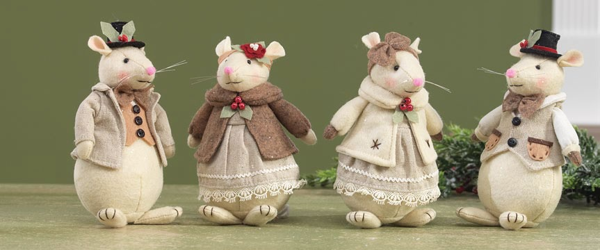 raz mouse christmas ornaments shelley b home and holiday - Christmas Mice Decorations