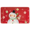 RAZ Peppermint Kisses 14 inch Snowman Tray