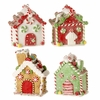 RAZ Peppermint Kisses Iced Gingerbread House Ornaments