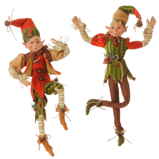 fall posable elf set by RAZ Imports