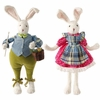 RAZ Posable Rabbit set of 2 20 inches tall