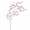RAZ  36 Inch Tiny Red Bell Silver Branch Christmas Floral