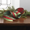 RAZ Sentimental Season 2.5 inch Striped Red and Green Wired Ribbon