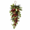 RAZ Sentimental Season 34 inch Holly and Beaded Ball Ornament Swag