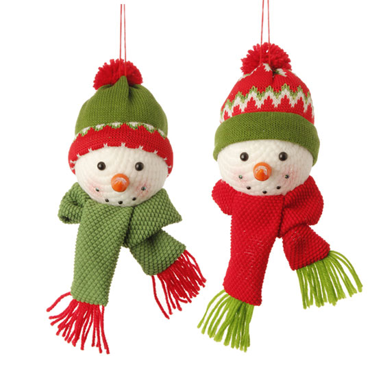 ... snowman head ornaments ... - RAZ Snow Biz 6.5 Inch Snowman Head Christmas Ornaments - Shelley B