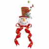 RAZ 19.5 inch Snowman Head Tree Topper with Red Top Hat