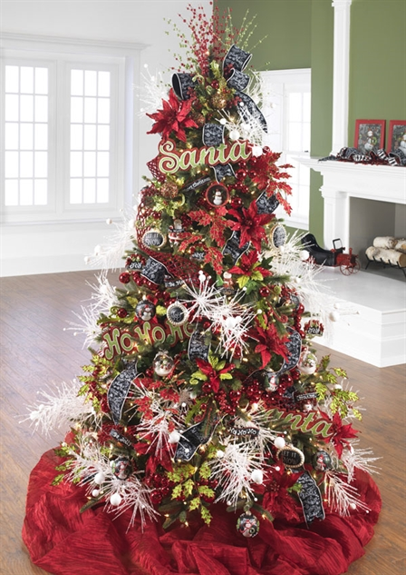 RAZ Imports Christmas To Be Jolly Decorated Christmas tree at www.shelleybhomeandholiday.com