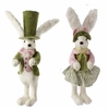 RAZ White Rabbit Top Hat and Easter Bonnet Couple