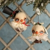 Robin Seeber Snowball Ornaments set of 2