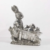 Silver Plated Bunny with Cart