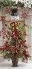 Snowdoodles 4 ft Flat Snowman and Poinsettia Christmas Tree