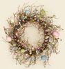 Spring Eggs and Pip Berries Wreath for Spring or Easter