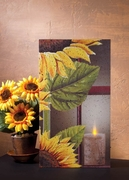 Sunflower with Candle Radiance Lighted Canvas