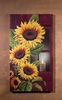 Sunflower with Flickering Candle Radiance Light Canvas 36x20
