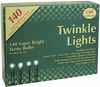 Tiny Twinkle 140 Lights on Green Cord