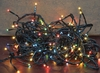 Twinkle Multi Color Multi Function 140 Lights on 26 ft Green Cord