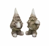 Winter Garden Gnome Stone Look Statue