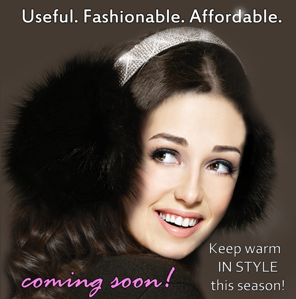 COMING SOON! Rhinestone Earmuffs
