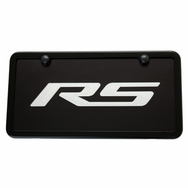 Camaro RS Black License Plate Tag and Black Frame