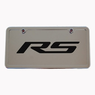Camaro RS Chrome License Plate Tag and Stainless Steel Frame
