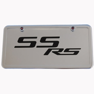 Camaro SS /RS Chrome License Plate Tag and Stainless Steel Frame
