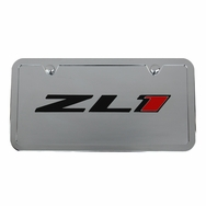 Chevrolet Camaro ZL1 Chrome License Plate Tag and Stainless Frame