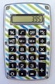 Blue Green Stripe Pocket Calculator For The Coupon Wallet� Organizer