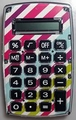 Pink Purple Stripe Pocket Calculator For The Coupon Wallet� Organizer