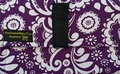 The Coupon Wallet�<br>Basic Organizer<br>Purple White Paisley