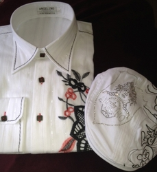 Angelino Amato White Shirt w/Cap