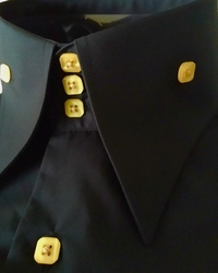 Angelino Black Gold High Collar Shirt