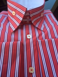 Angelino Robert Red High Collar Shirt