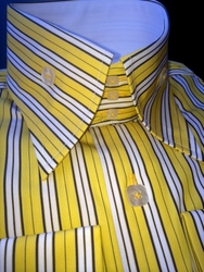 Angelino Robert Yellow High Collar Shirt