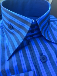 Angelino Rumba Blue High Collar Shirt