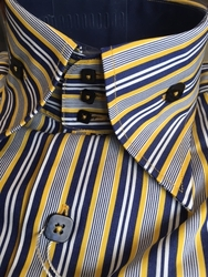Angelino Samba Yellow High Collar Shirt