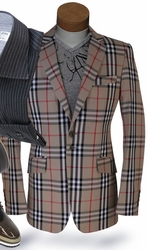 Angelino Tan Check Sport Jacket