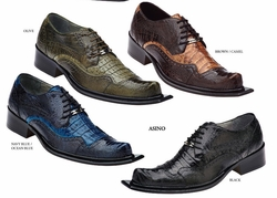 Belvedere  Asino Ostrich Crocodile Shoes