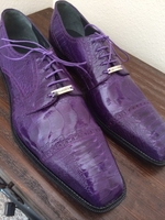 Belvedere Lucca Purple Osrtich shoes size 11.5