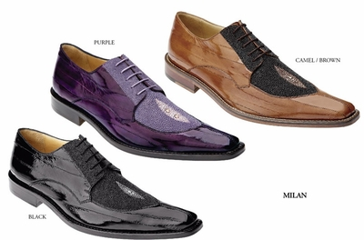 Belvedere Milan Eel and Stingray Shoes