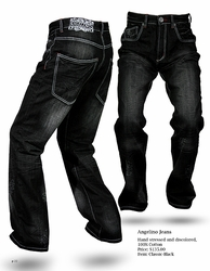 Angelino Classic Black Denim Jeans