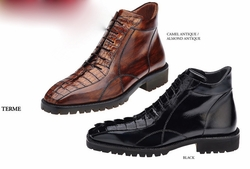 Belvedere Terme Genuine Hornback and Italian Calf Boots