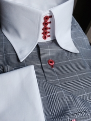 MorCouture Limited Edition Glen Plaid 5 Button -Special Order