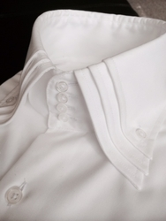 MorCouture White Triple High Spread Collar Shirt